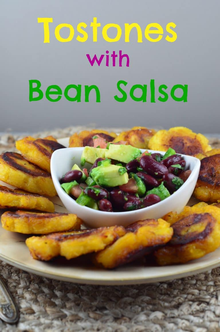 Meatless Monday – Tostones with Black Bean Salsa – Vegan & Gluten Free