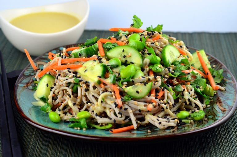 Meatless Monday – Cold Soba Noodles With White Miso Dressing
