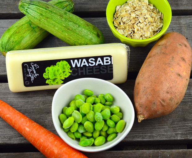 Wasabi Cheese Stuffed mushroom veggie burger ingredients