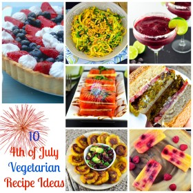 Ten 4th of July Vegetarian Recipe Ideas: #BBQ, #4th of July, #recipes, #vegetarian #picnic #Vegan #glutenFree #kosher