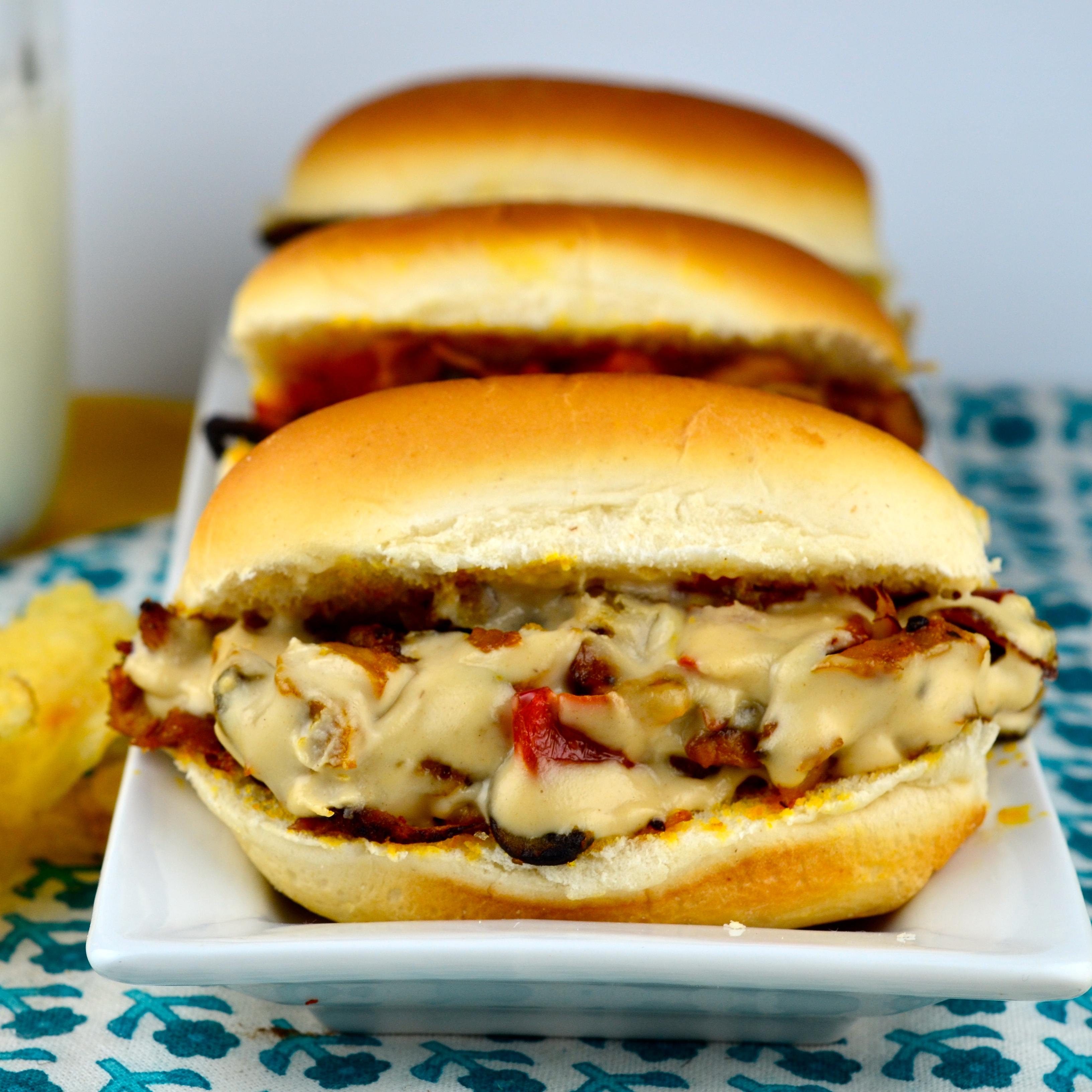 "Meatless ""Steak"" Sandwich With Tahini Sauce"