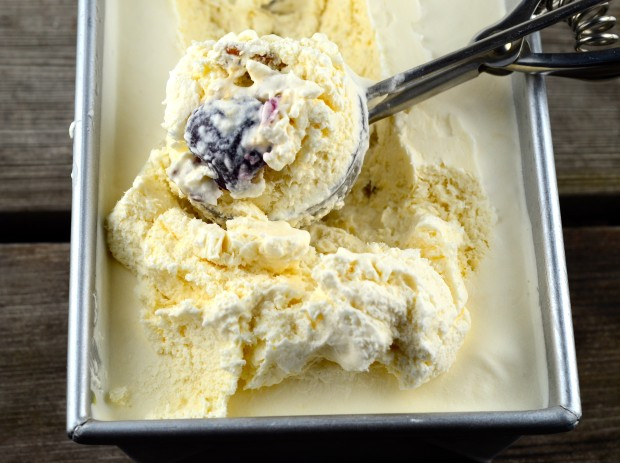 Walnut & Cherry Goat Ice Cream #Ice Cream, #dessert #Goat's milk #Walnuts, #cherries