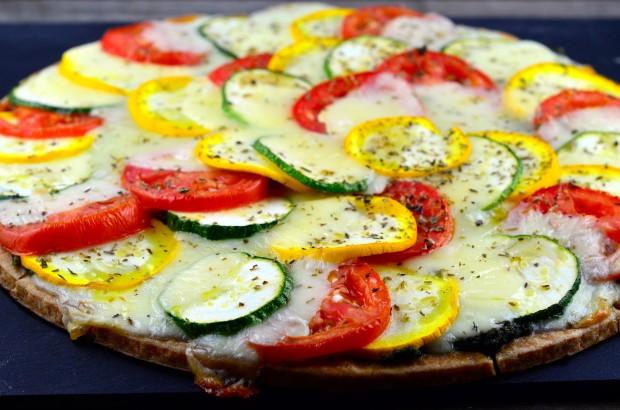 Summer Pizza - #Pizza #Summer #Zucchini #Summer Squash #vegetarian #kosher #cheese