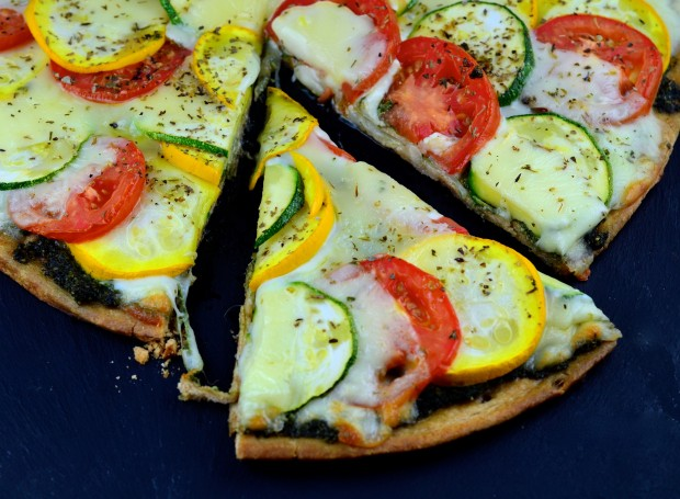 Summer Pizza - #Pizza #Summer #Zucchini #Summer Squash #vegetarian #kosher #cheese