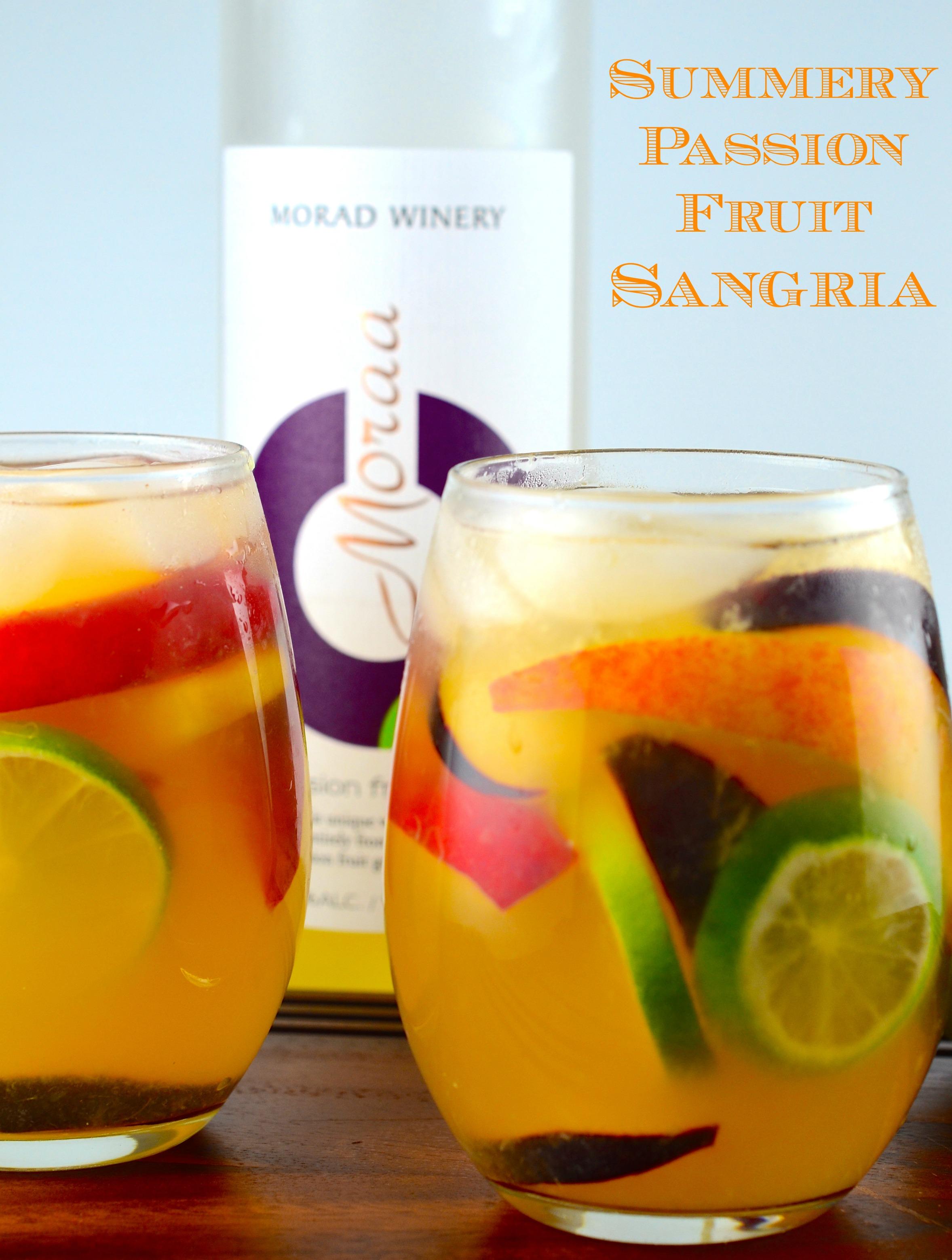 Summery Passion Fruit Sangria - #MoradWines #sangria #summer #Kosher # ...