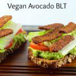 Vegan Avocado BLT - #sandwich #BLT #Vegan #kosher #avocado #tomato #lettuce