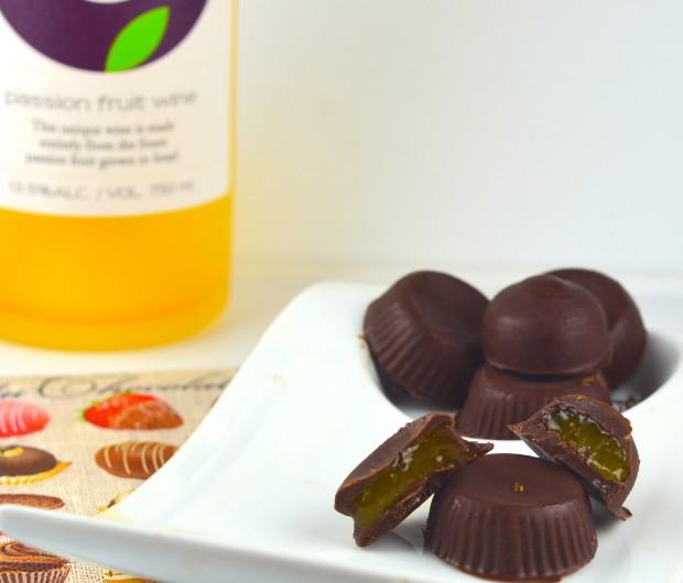 Passion Fruit Wine & Mango Filled Bonbons  #dessert #chocolate #vegan #gluten Free #kosher #parve