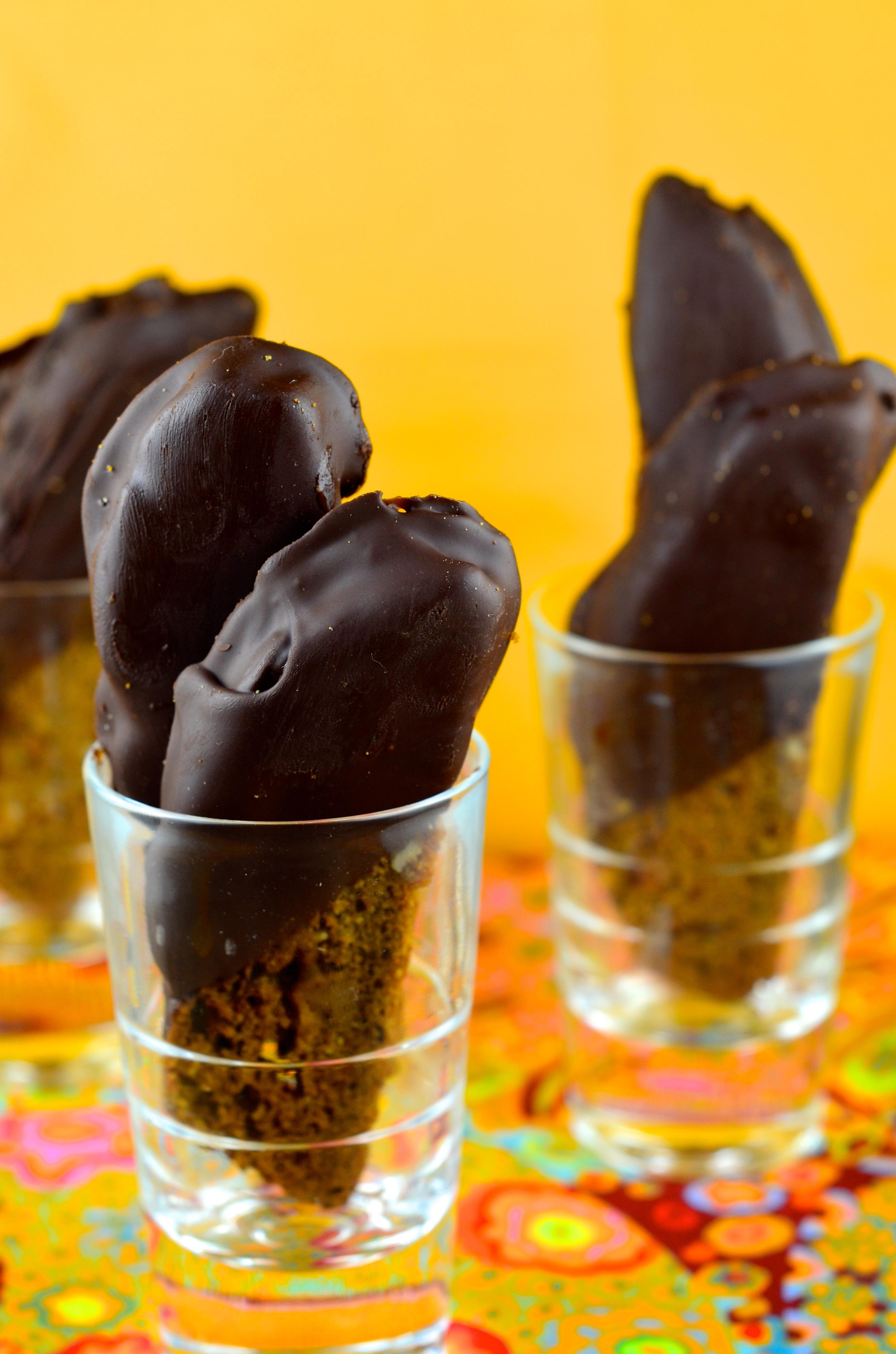 Hazelnut & Coffee Vegan Biscotti Dipped in Chocolate