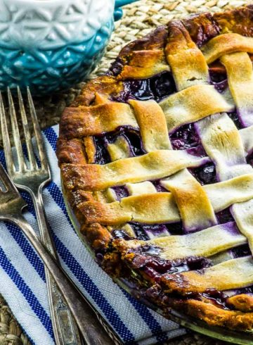 Vegan Peach Blueberry Pie