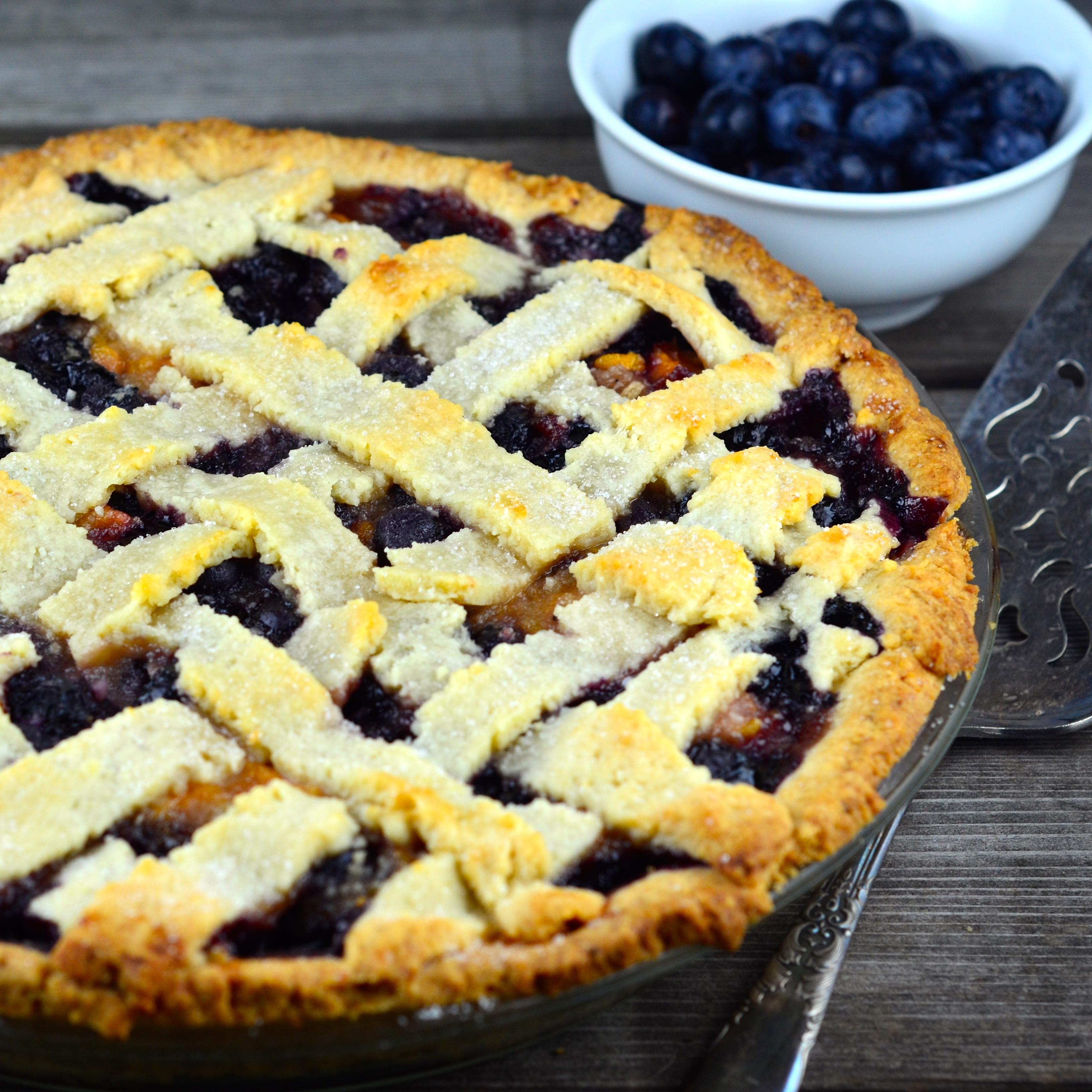 Vegan Blueberry Peach Pie