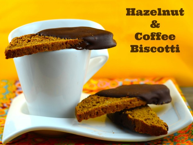 Hazelnut & Coffee biscotti #Vegan #coffee #Chocolate #biscotti #cookies #Sodelicious #kosher