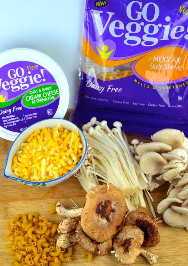 VEGAN MAC & CHESEE #mac and Cheese #vegan #kosher #mushrooms #GO Veggie! #Comfort Foods