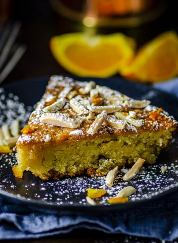 Orange Honey Almond Cake