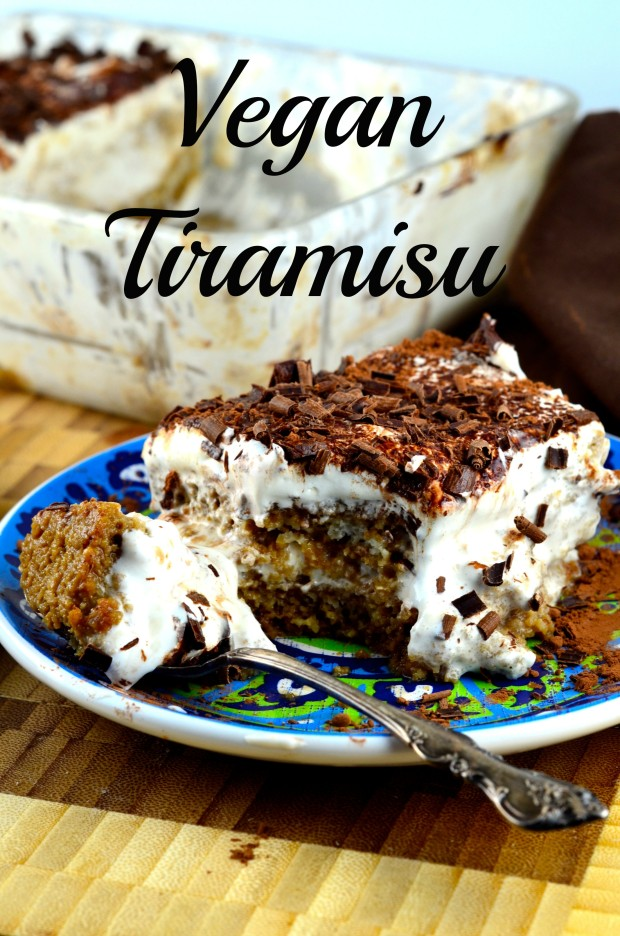 Vegan Tiramisu, home made vegan sponge cake, coco whip, chocolate and coffee. Do we need to say more?