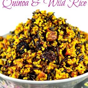 Jeweled Quinoa & Wild Rice #quinoa #rice #wild rice #spices #kosher #gluten Free #vegan #side #vegetarian #spices #holidays #Jewish Holidays #Rosh Hashanah
