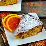 ORANGE HONEY ALMOND CAKE - #Cake #dessert #orange #honey #dairy Free #gluten free #almonds #kosher #holidays #Rosh HaShanah