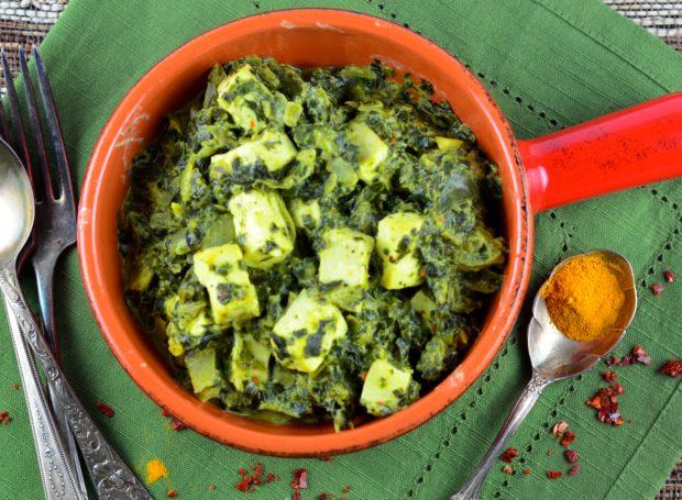 Vegan Spinach Paneer #vegan #glutenFee #vegetarian #coconut #kosher #tofu #protein #spinach