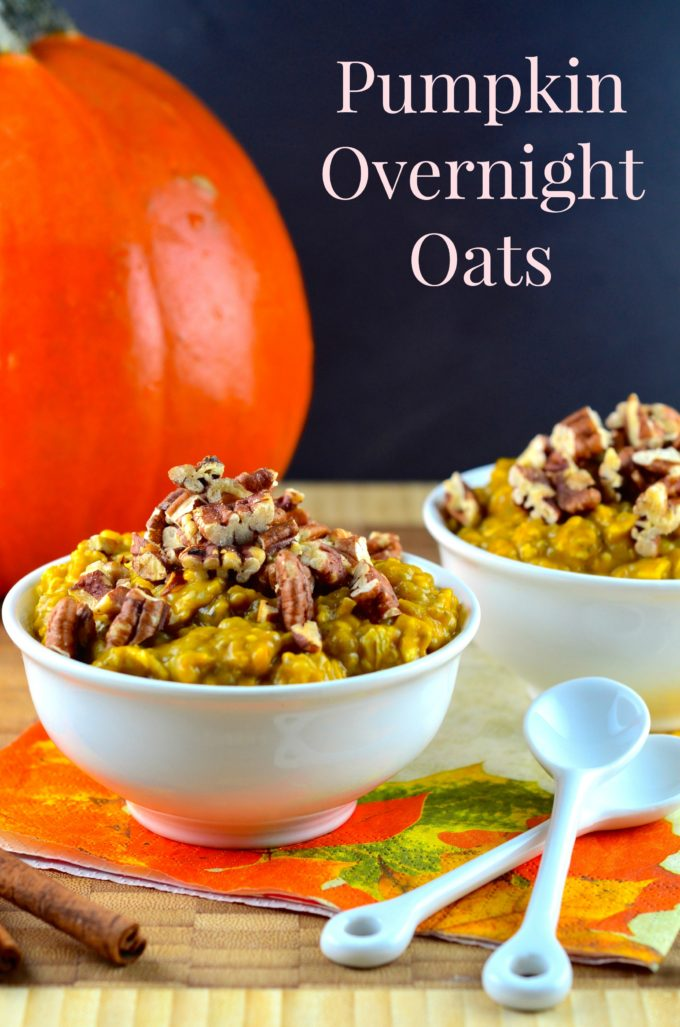 vegan pumpkin overnight oats. Black Bedroom Furniture Sets. Home Design Ideas