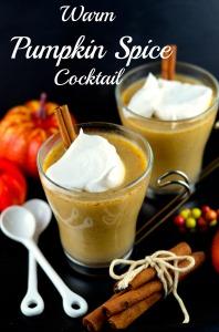 Warm pumpkin spice cocktail - Vegan , cooconut, pumpkin, thanksgiving, gluten free, So Delicious, kosher, cocktail,