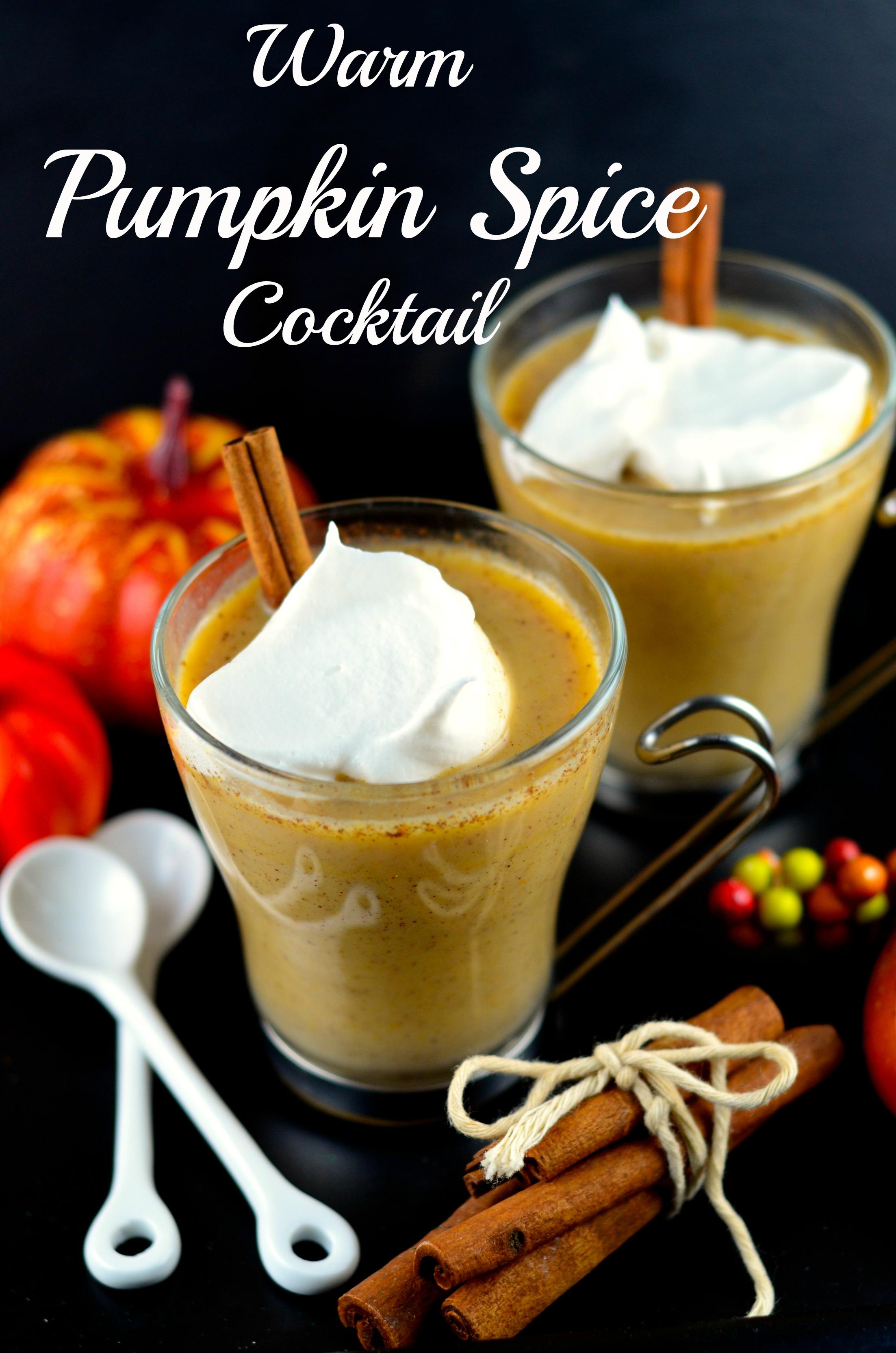 Warm Pumpkin Spice Cocktail