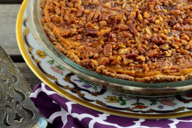 Sweet and Savory sweet potato pie #Vegan #glutenFree #GF #kosher #holidays #thanksgiving #pie #sweet potato