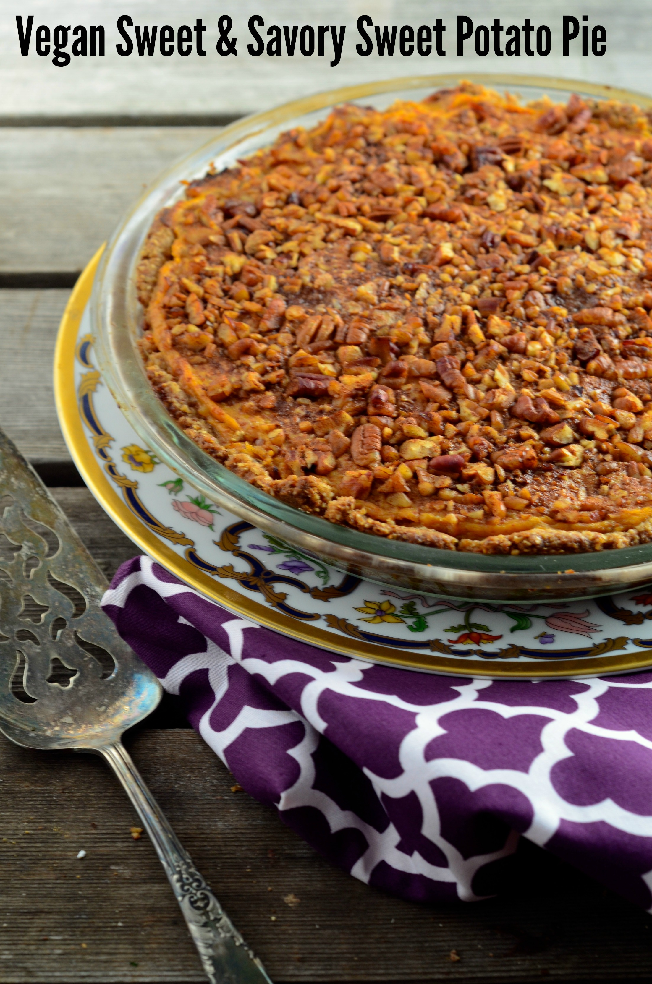 Vegan Sweet & Savory Sweet Potato Pie (Gluten Free)