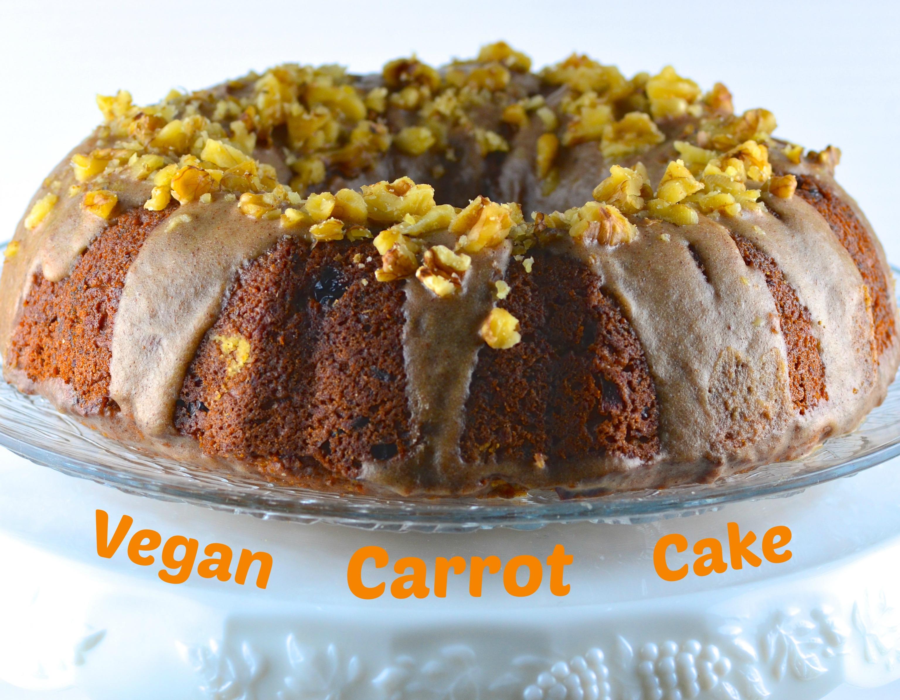 Vegan Rainbow Carrot Bundt Cake
