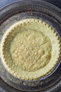 Bake pie shell for bourbon pecan pie