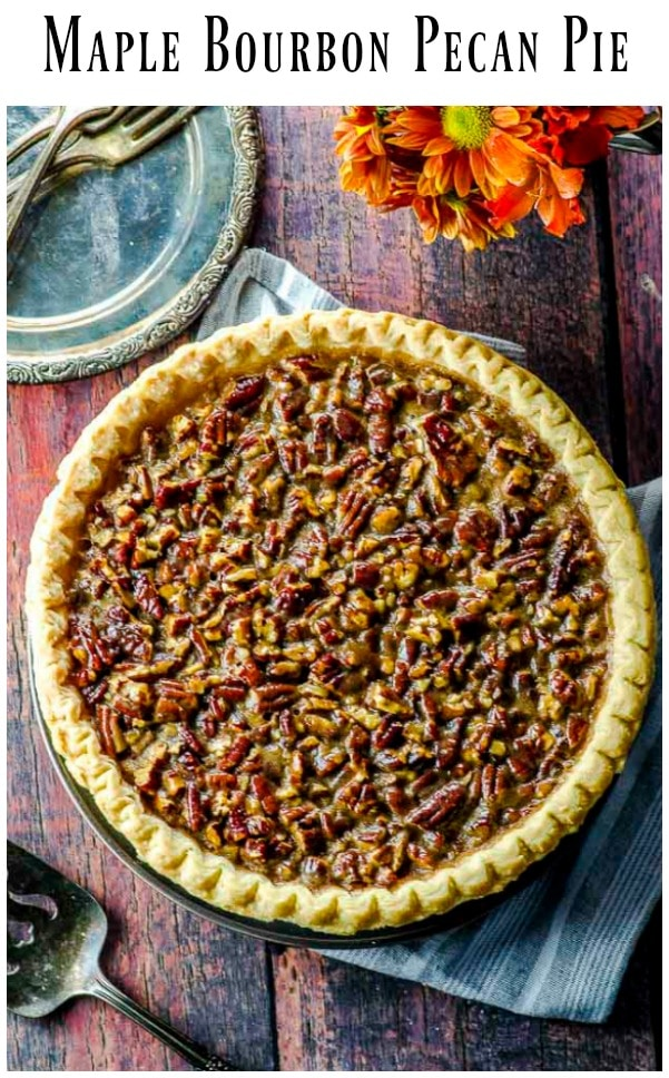 A super easy vegan bourbon pecan pie recipe with an unusual ingredient that helps hold the filling together. Can you guess what it is?  #Vegan #pecan #pie #thanksgiving #Holidays #recipe #bourbon
