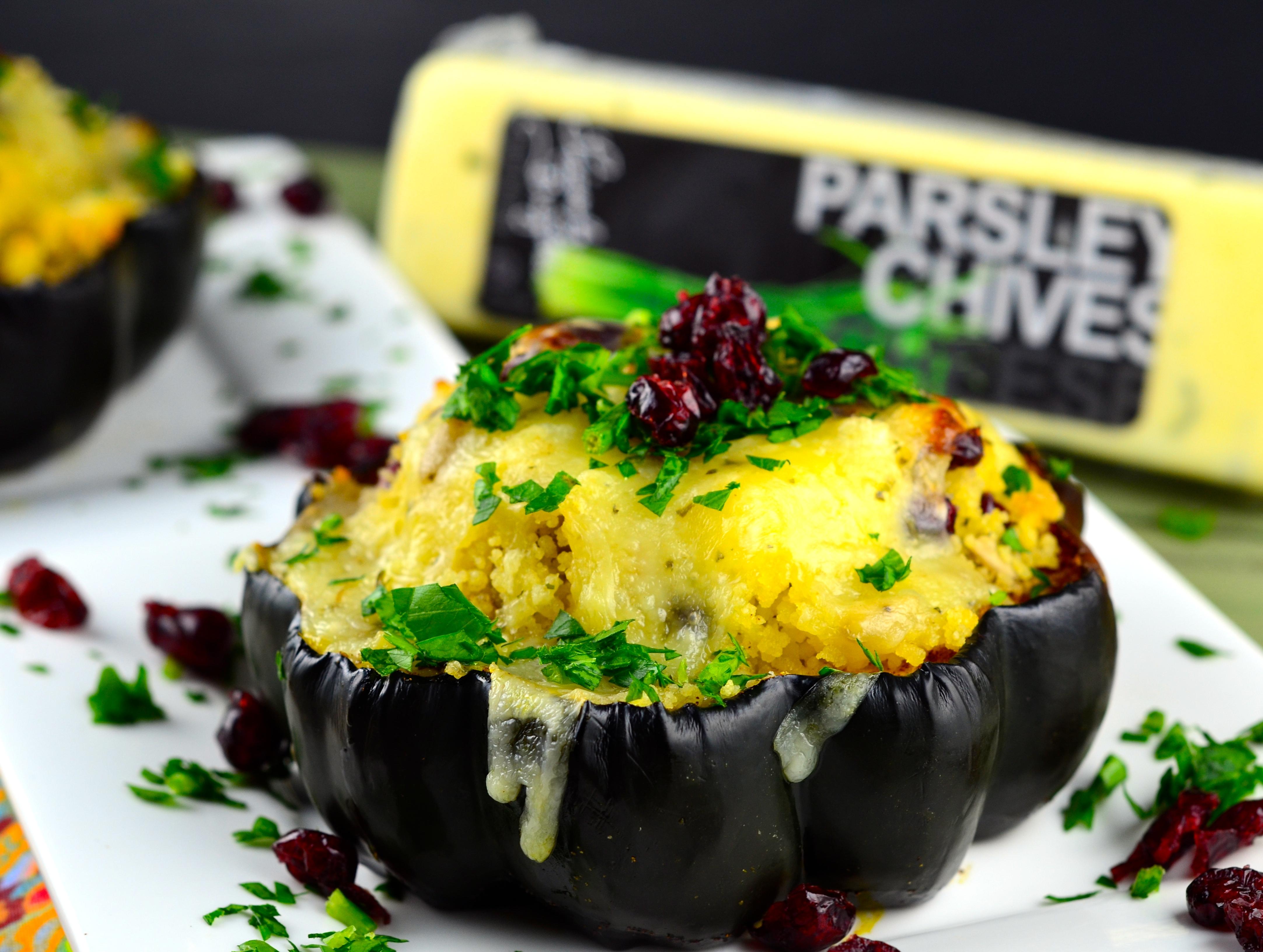 Couscous & Cheese Stuffed Acorn Squash