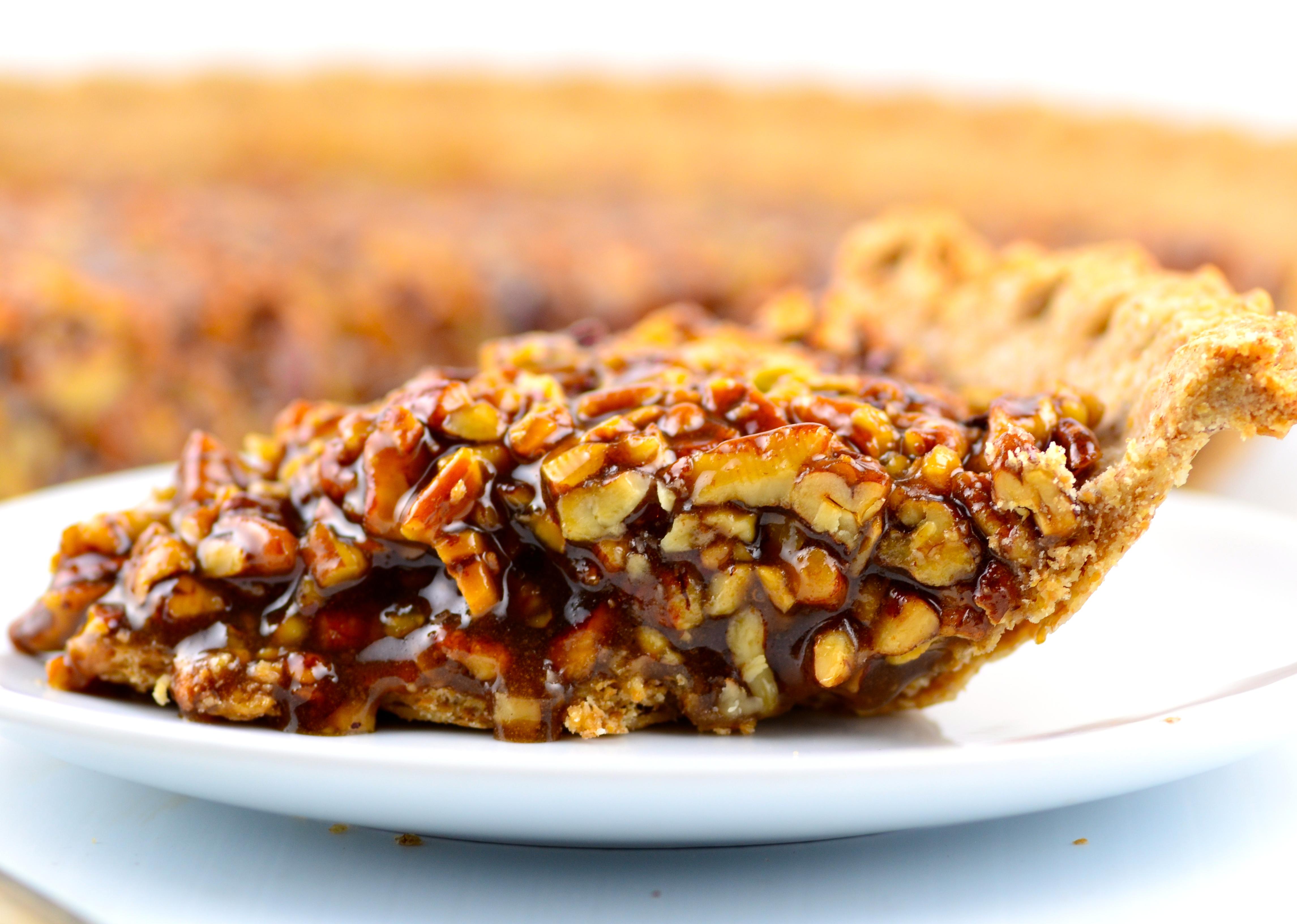 Vegan Maple Bourbon Pecan Pie