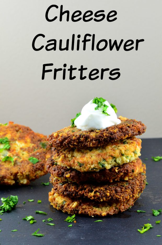 Cauliflower and Cheese Fritters, do you want to feel good about the appetizer you are going to serve at your next party? They these cheesy cauliflower fritters, they are a great vegetarian option. Comforting, easy to make and guaranteed success. Great to serve at a Super Bowl Party, Chanukah, brunch, breakfast, lunch or dinner.