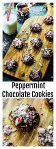 "Vegan peppermint chocolate cookies: Chocolate and peppermint is the winning flavor combination, that transforms a regular cookie into a "" super cookie""."