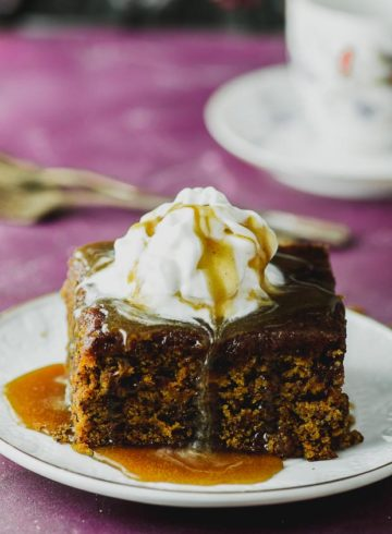 Vegan Nog Sticky Toffee Pudding