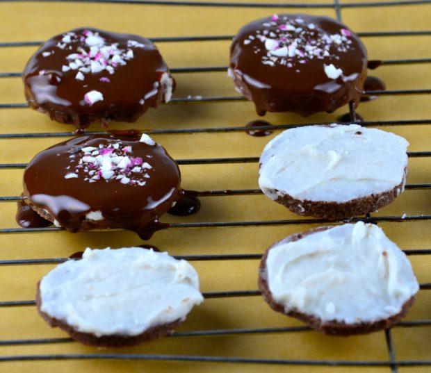peppermint chocolate cookies #peppermint #cookies #chocolate #mint #vegan #dessert