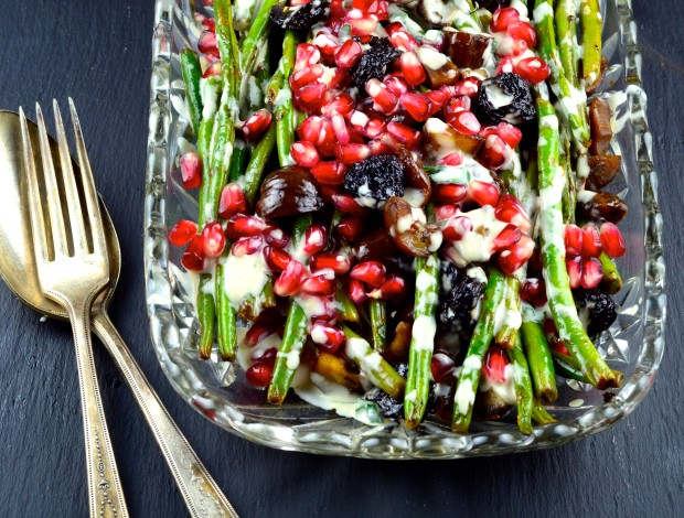 green beans with chestnuts and pomegranates #vegetables #healthy # ...