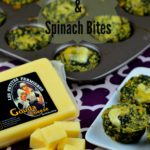 Cheese, spinach and quinoa bites on a plate and on a mini muffin tin pan