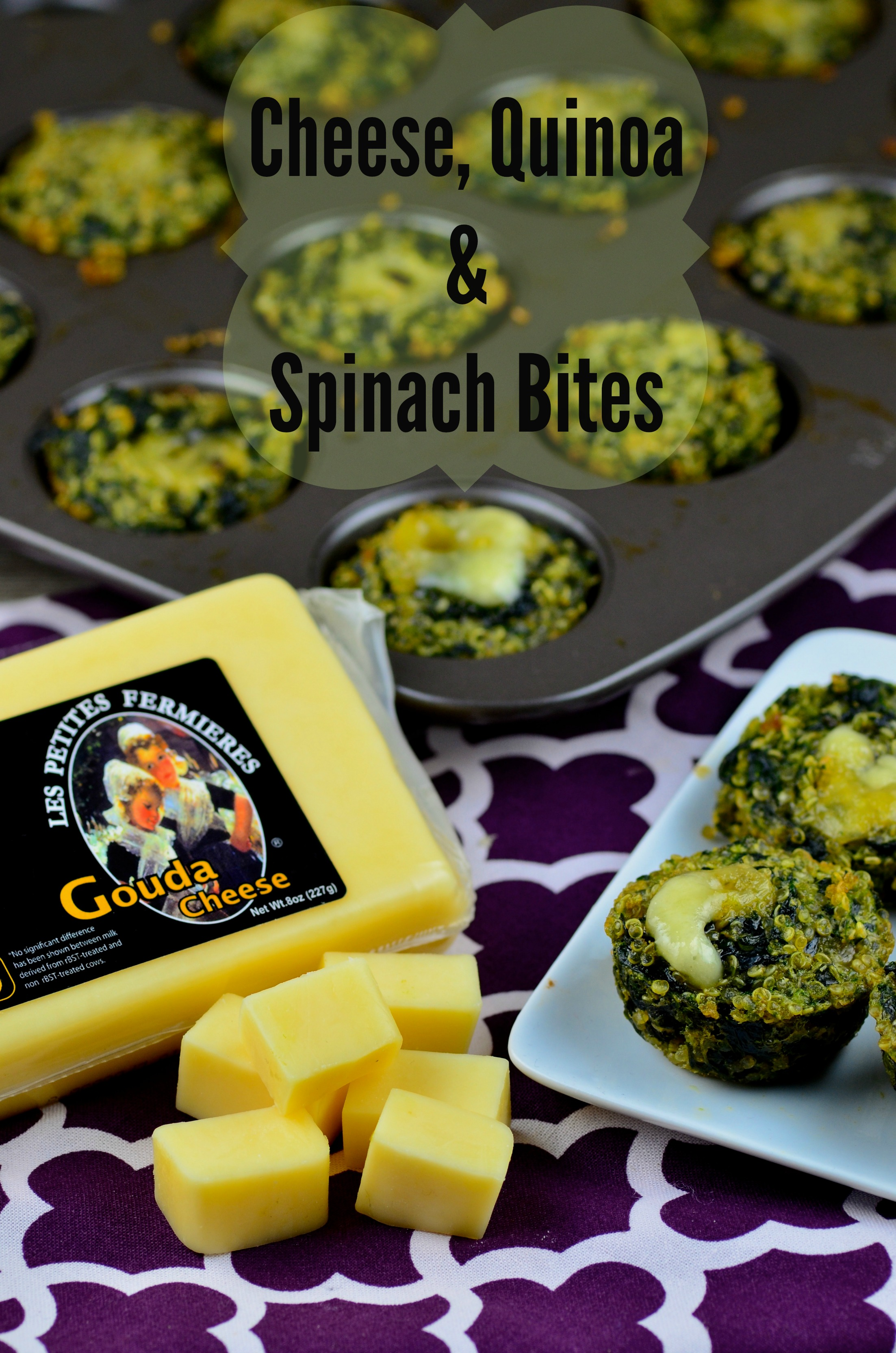 Small Bites For The Big Game – Cheese, Spinach & Quinoa Bites