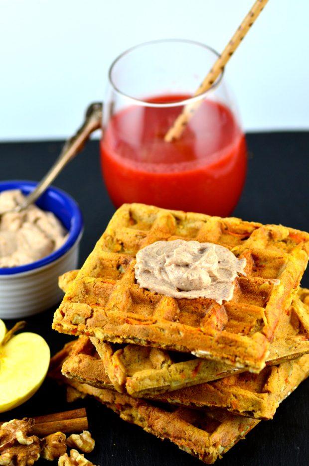 Vegan Morning Glory Waffles