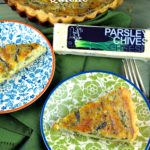 What a better way to welcome spring that with a creamy asparagus and goat cheese quiche. A wonderful vegetarian, breakfast, brunch, lunch or dinner.