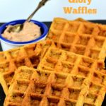 4 morning glory waffles on a plate