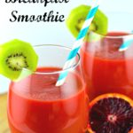 Fight the sniffles with this vitamin packed winter smoothie - #smoothie #healthy #breakfast #vitamins #kosher #bloodOrange #veggies #fruit