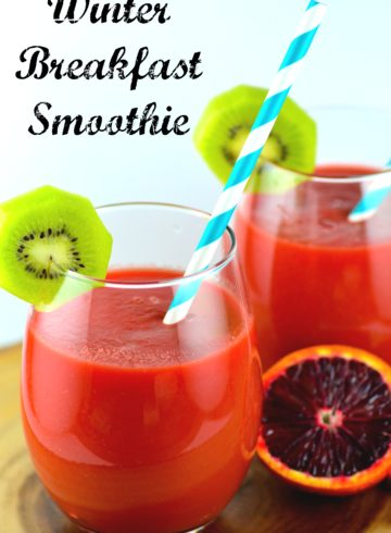 Winter Breakfast Smoothie