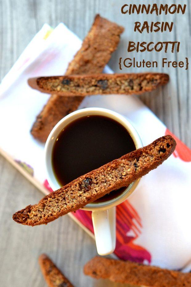 cinnamon raisin biscotti - #passover #kosher #recipe #cinnamon #raisins #dessert #glutenFree
