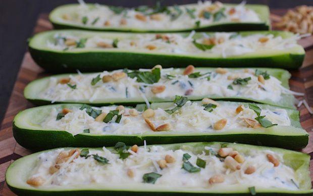 Zucchini Botas with Ricotta and Pine Nuts #Passover #kosher #vegetarian