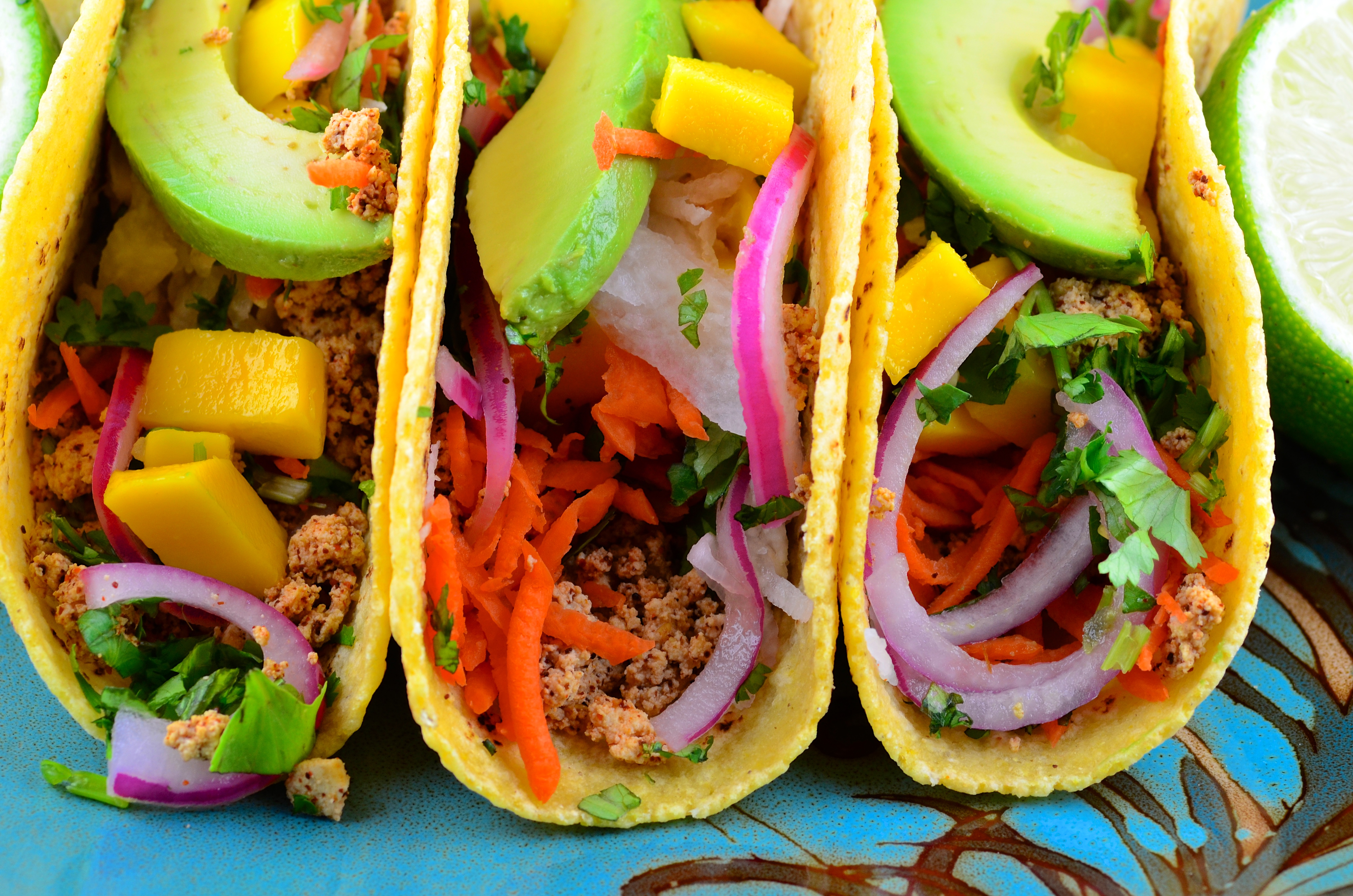 Avocado, Mango, Chili, Lime Tofu Tacos – Vegan & Gluten Free