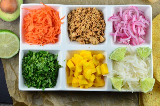 Avocado, Mango, Chili, Lime Tofu Tacos - Vegan & Gluten Free