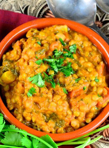 Spiced Coconut Dal (Lentils) – Vegan & Gluten Free