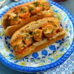 Vegan Lobster Roll Recipe- #vegan #kosher #vegetarian #lobster #heartsOfPalm #Roll #spicy