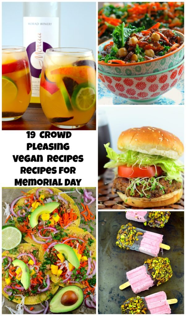 Memorial Day Vegan Recipes #vegan #vegetarian #memorialDay #recipes
